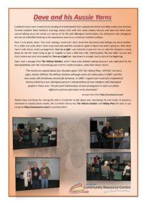 05_08_16 Bandicoot Cunderdin DG Write up